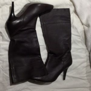 Banana Republic brown leather 8 heel boot worn 1
